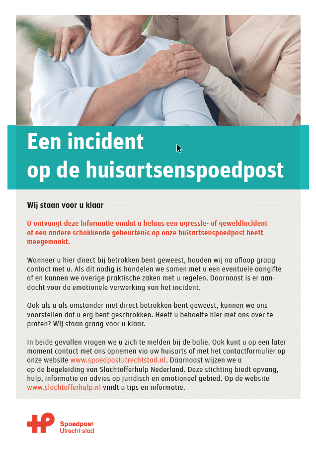 Incidenten poster Utrecht Stad